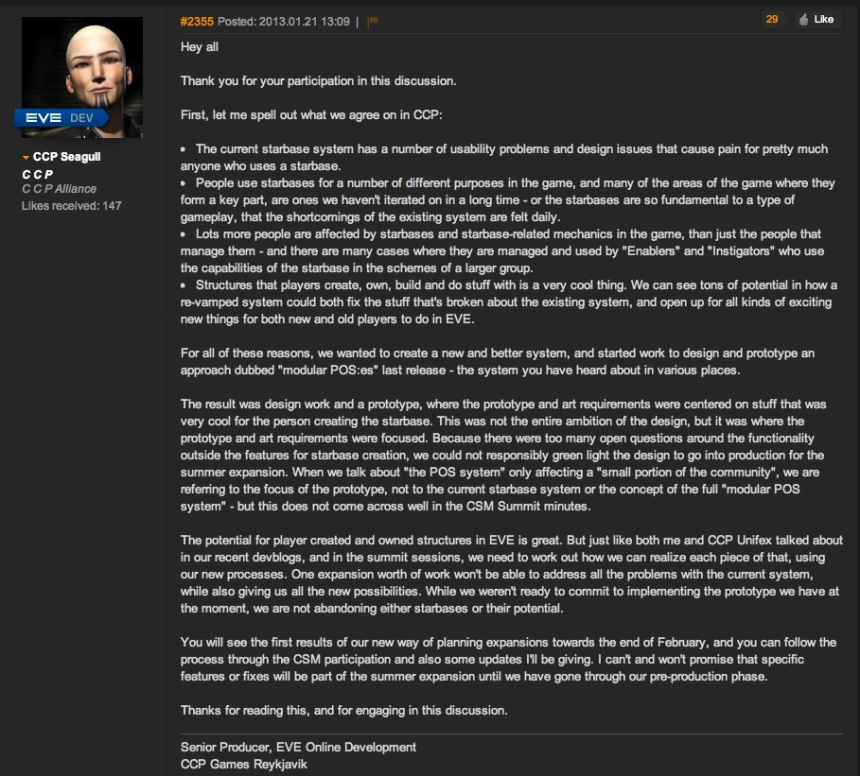 CCP Responds to POS Issue