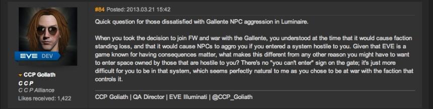 Battle for Caldari Prime Dev Responce
