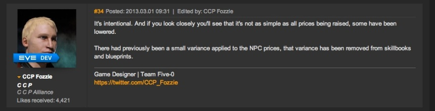 NPC Price Increases