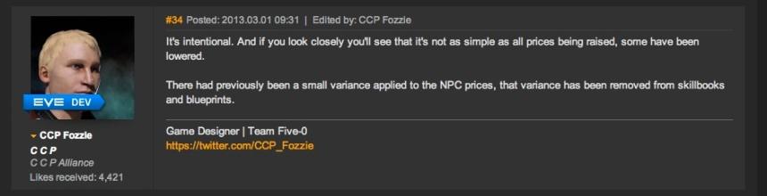 NPC Price Increases