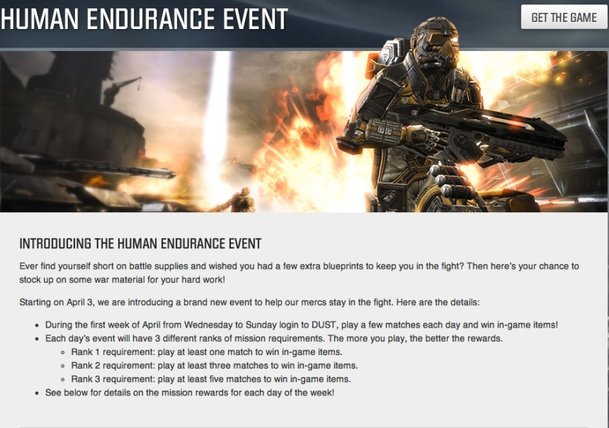 DUST514 HUman Endurance Event