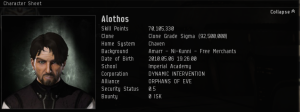Alothos 4 years of EVE