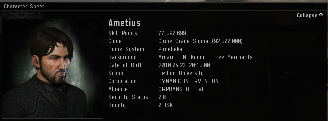 Ametius 4 years of EVE