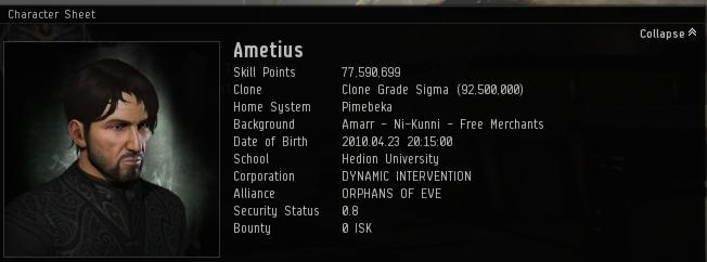 Ametius 4 years of EVE